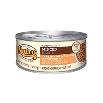 Nutro Adult Canned Cat Food - Minced Chicken and Shrimp Cuisine 3oz