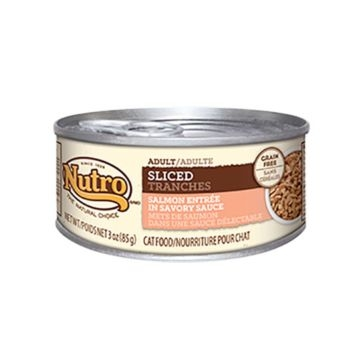 Nutro Adult Canned Cat Food - Sliced Salmon Entrée 3oz
