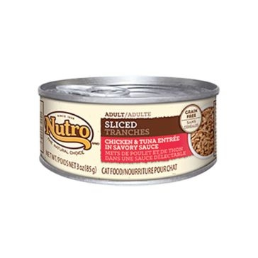 Nutro Adult Canned Cat Food - Sliced Chicken & Tuna Entree 3oz