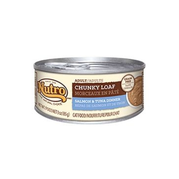Nutro Adult Canned Cat Food - Chunky Loaf Salmon & Tuna Dinner 3oz