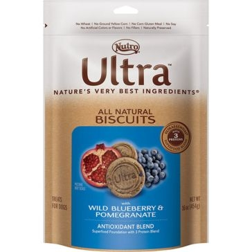 Nutro Ultra Antioxidant Blend Dog Biscuits With Wild Blueberry & Pomegranate 16oz