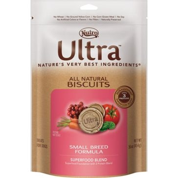 Nutro Ultra Small Breed Formula Dog Biscuits - Superfood Blend 16oz