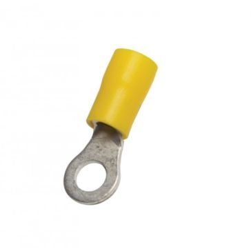 "Uriah Yellow PVC 5/16"" Stud Ring Terminal 10-PCS UA692500"