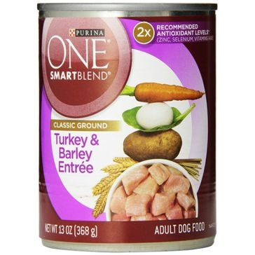 Purina One Smartblend Adult Turkey & Barley Entrée Wet Dog Food 13oz