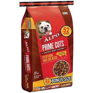 Purina Alpo Prime Cuts Savory Beef Adult Dry Dog Food 52lb