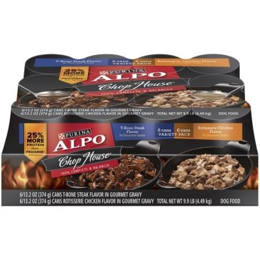 Purina Alpo Chop House Gravy Variety Pack Wet Dog Food 12ct