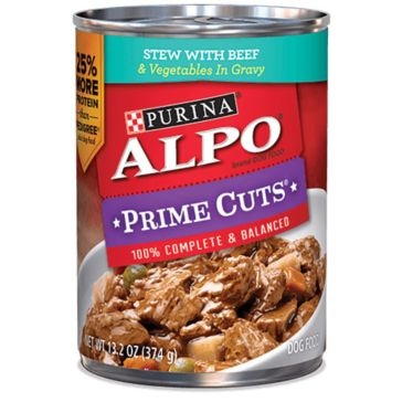 Purina Alpo Prime Cuts Stew with Beef Wet Dog Food 13.2oz
