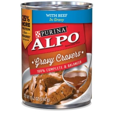Purina Alpo Gravy Cravers with Beef Wet Dog Food 13.2oz