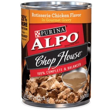 Purina Alpo Chop House Rotisserie Chicken Flavor Wet Dog Food 13oz