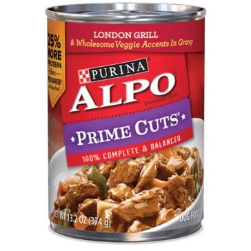 Purina Alpo Prime Cuts London Grill & Wholesome Veggie Wet Dog Food 13.2oz
