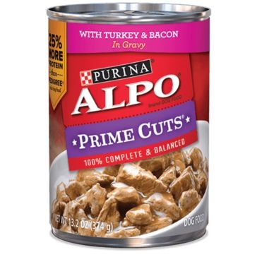 Purina Alpo Prime Cuts Stew with Turkey & Bacon Wet Dog Food 13.2oz