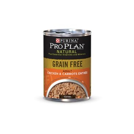Purina Pro Plan Natural Adult Grain Free Chicken & Carrots Entrée Wet Dog Food 13oz