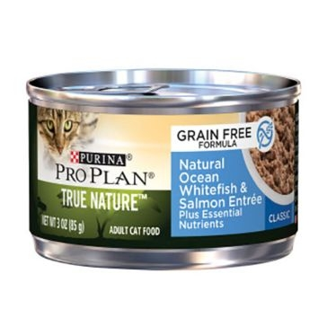 Purina Pro Plan True Nature GF Adult Ocean Whitefish & Salmon Entrée Wet Cat Food 3oz