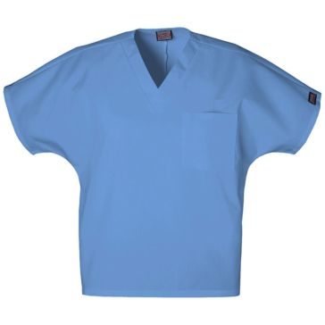 Unisex V-Neck Tunic Scrub Ciel Blue