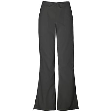 Womens Petite Drawstring Scrub Pants Black