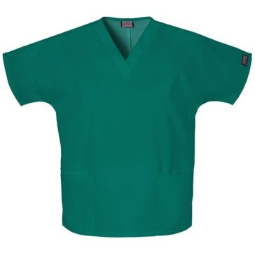 Womens V-Neck Scrub Top Hunter Green