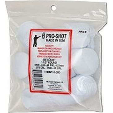 Pro-Shot Gun Cleaning Patches 300ct. 6mm-.30Cal