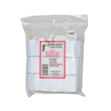 Pro-Shot Gun Cleaning Patches 500ct. 7mm-.38Cal/6mm