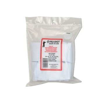 Pro-Shot Gun Cleaning Patches 250ct. .38-.45Cal./.20-410Ga.