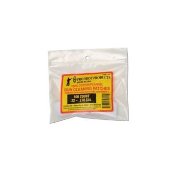Pro-Shot Gun Cleaning Patches 100ct. .22-.270 Cal.
