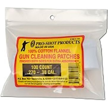 Pro-Shot Gun Cleaning Patches 100ct. .270-.38 Cal.