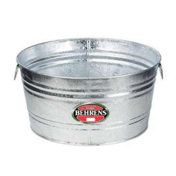 Behrens Round Hot Dipped Steel Tub 11 Gal