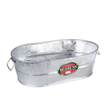 Behrens Oval Hot Dipped Steel Tub 5.5 Gal