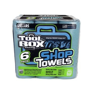 Sellars TOOLBOX Blue Shop Towel Rolls 6-Pack