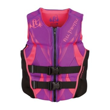 Full Throttle Womens Hinged Rapid-Dry Flex-Back Life Jacket
