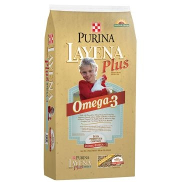Purina Layena Plus Omega-3 Poultry Feed 40lb