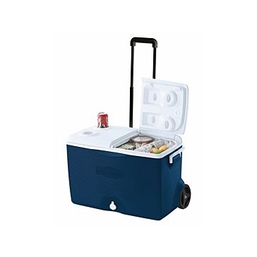 Rubbermaid 60qt Wheeled Cooler Ice Chest Blue