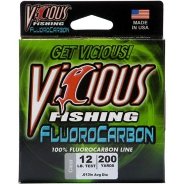 Vicious Fluorocarbon 12lb Fishing Line 200 Yard Spool