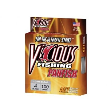 Vicious Panfish 4lb Lo-Vis Fishing Line 100 Yard Spool