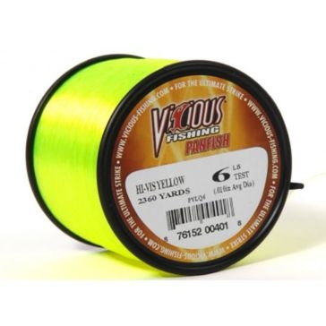 Vicious Panfish 6lb Hi-Vis Fishing Line 2360 Yard Spool