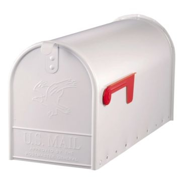 Solar Group Large White Post Mailbox E1600W00