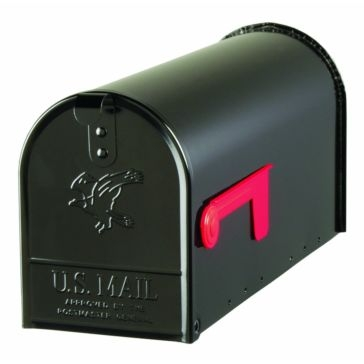 Solar Group Large Black Post Mailbox E1100B00