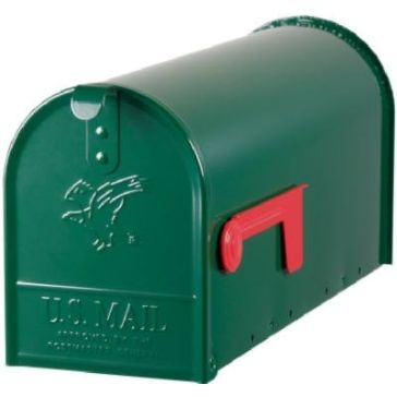 Solar Group Large Green Post Mailbox E1100G00