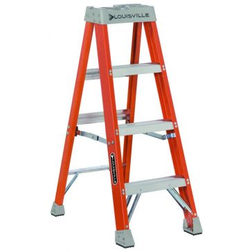 Louisville 4 ft. Fiberglass Stepladder Type 1A 300lb FS1504