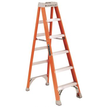Louisville 6 ft. Fiberglass Stepladder Type 1A 300lb FS1506