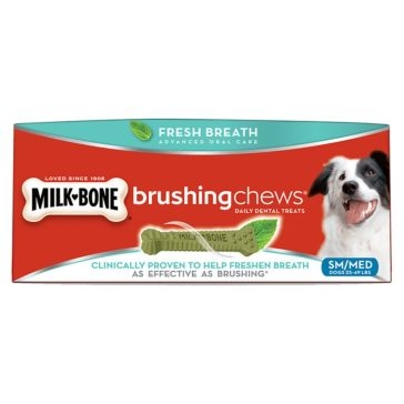 Milk-Bone Small/ Medium Brushing Dental Chews Treats - 14oz