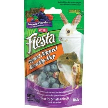 Kaytee 2.5 oz. Fiesta Blueberry & Strawberry Yogurt Dipped Timothy Hay 100502797