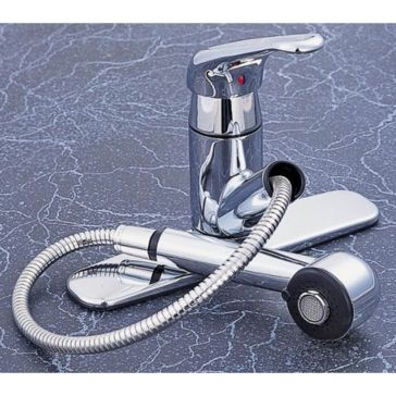 MintCraft Chrome Kitchen Faucet Single Handle With Spray