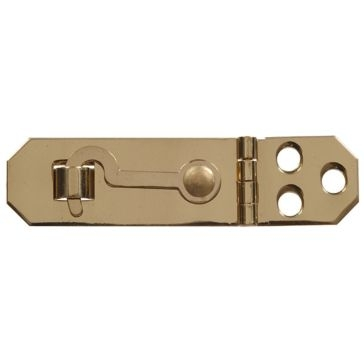 "Hillman 3/4x2-3/4"" Solid Brass/Bright Brass Mini Decorative Hasps"