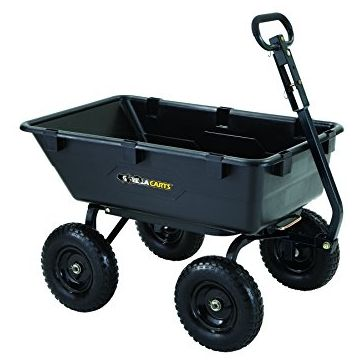 Gorilla 1200lb Heavy Duty Poly Dump Yard Cart GOR6PS