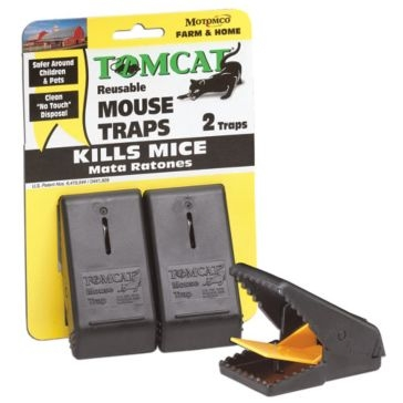 Tomcat 2 Pack Mouse Snap Trap 33500