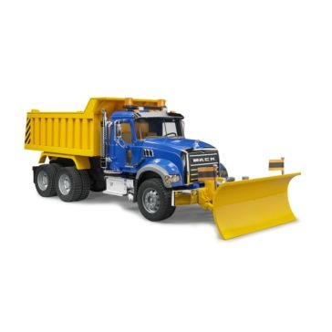 Bruder 1:16 Mack Granite Dump Truck with Snow Plow