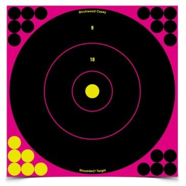 Birchwood Casey Shoot-N-C 12in Pink Bullseye Target 34027