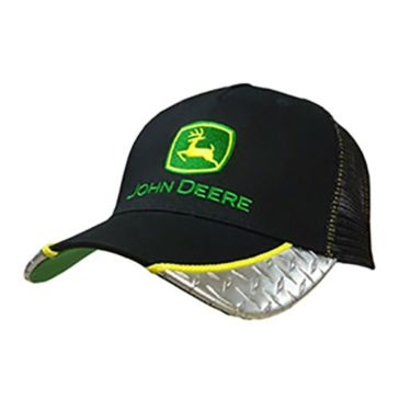 John Deere Mens Black Diamond Plate Mesh Back Cap