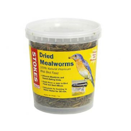 Stokes Select Dried Mealworms Bird Food 7oz Tub