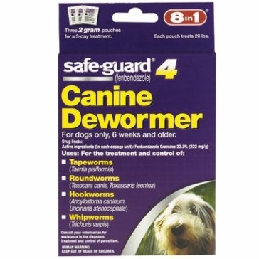Safeguard 2gm Canine Dewormer 3-pack 12525252